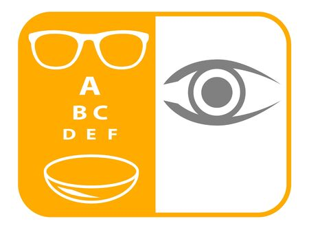 Optical service vector illustration Illustration