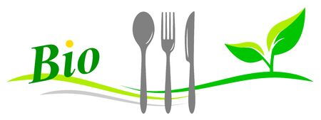 Organic restaurant vector illustration