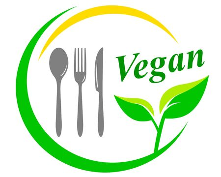 Vegan restaurant vector illustration