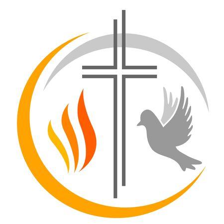Illustration vectorielle chrétienne abstraite