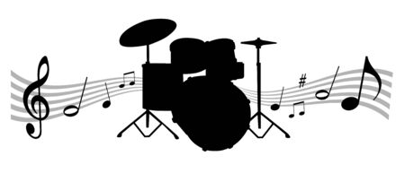 Music instrument illustration with drums 일러스트