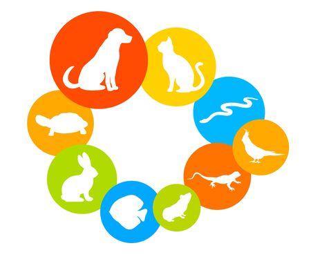 Animals collection illustration