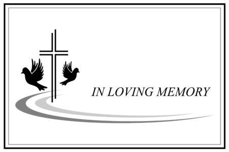 Illustrazione vettoriale di carta commemorativa Vettoriali