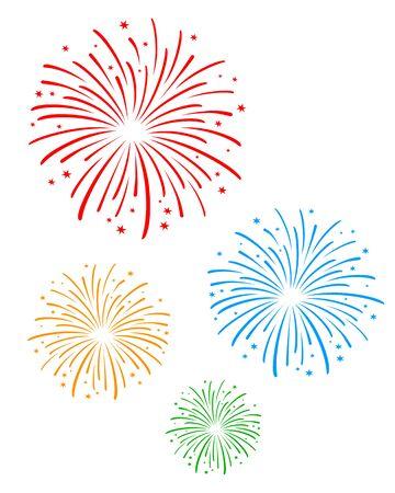 Vuurwerk vectorillustratie