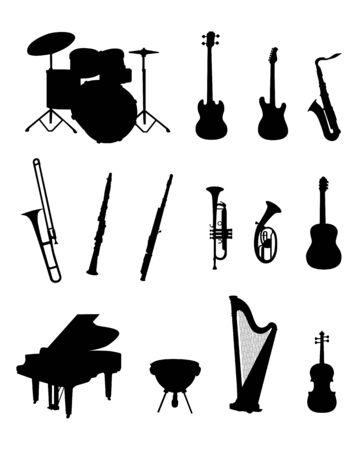Music instruments vector illustration