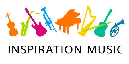 Inspiration music vector illustration