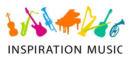 Inspirationsmusik-Vektorillustration