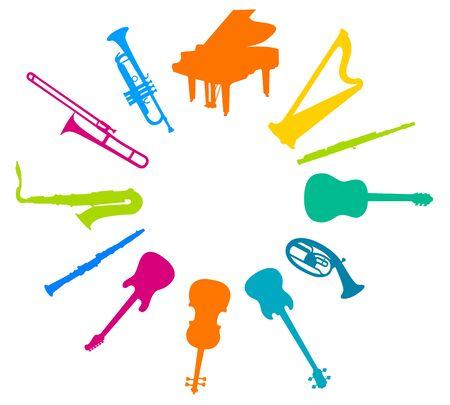 Musikinstrumente-Vektor-Illustration