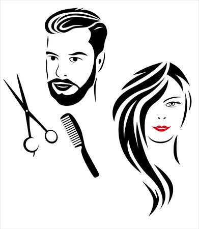 Hairdresser vector illustration Ilustração
