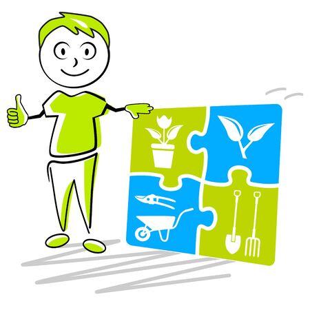 Gardener service vector illustration