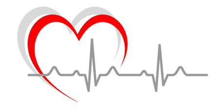 Electrocardiogram vector illustration