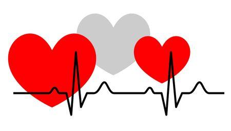 Heart health vector illustration