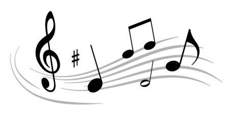 Ilustración de vector de notas musicales Ilustración de vector