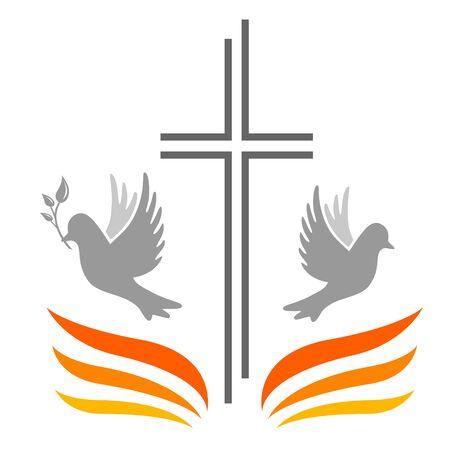 Pentecost vector illustration