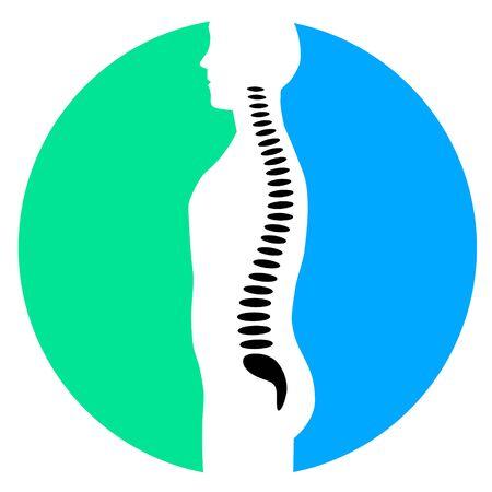 Backbone ache vector illustration