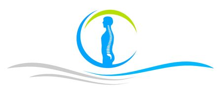 Backbone ache banner icon Illustration
