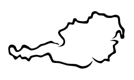 Map of austria vector illustration