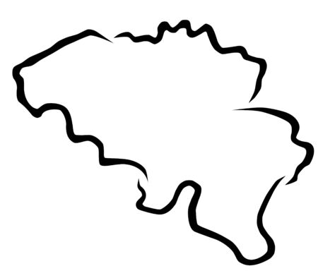 Kaart van belgië vectorillustratie Vector Illustratie