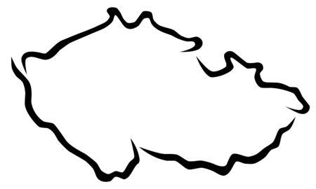 Map of czech republic vector illustration