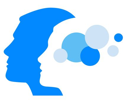 Illustrazione vettoriale di psicologia
