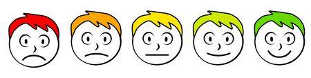 Emoticon icon collection vector illustration