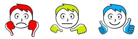 Emoticon icons vector illustration