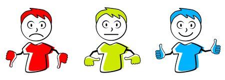 Emoticon vector illustration