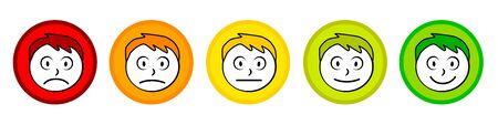 Emoticon cartoon collection vector illustration