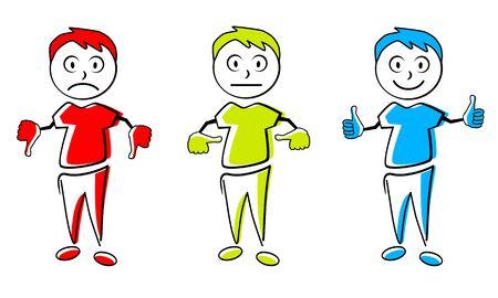 Emoticon cartoon vector illustration Ilustrace