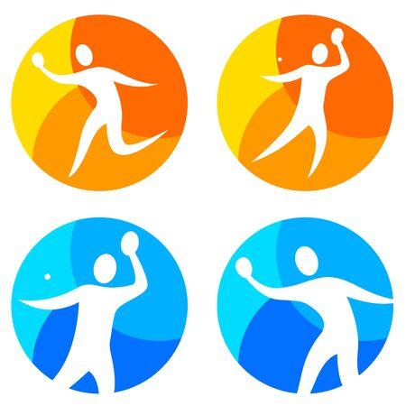 Table tennis buttons vector illustration Illustration