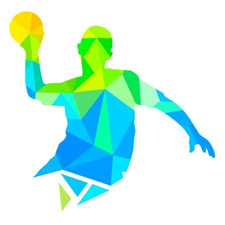 Abstract handball vector illustration