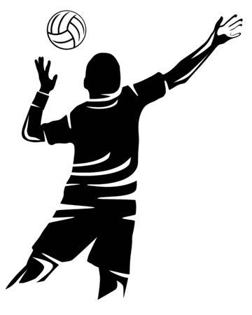 Volleyball sport vector illustration