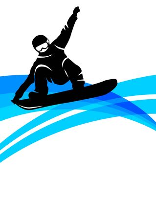 Snowboard poster vector illustration Stock Illustratie