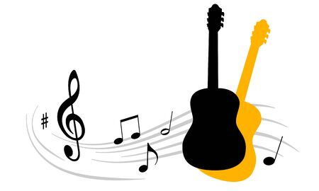 Vector illustration with guitar