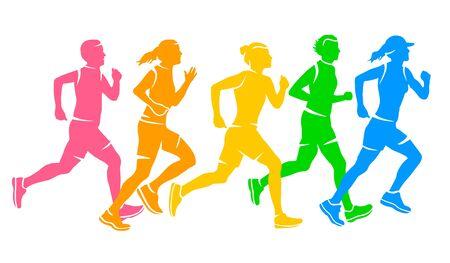 Running sport vector illustration