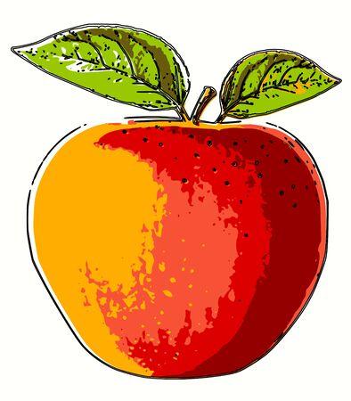 Abstract pop art apple Archivio Fotografico - 138449112