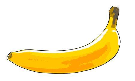 Pop art banana vector illustration  イラスト・ベクター素材