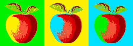 Pop art apples vector illustration Archivio Fotografico - 138449122