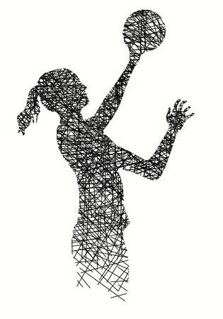 Volleyball vector illustration