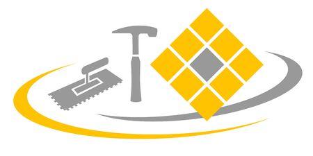Tiler service vector illustration