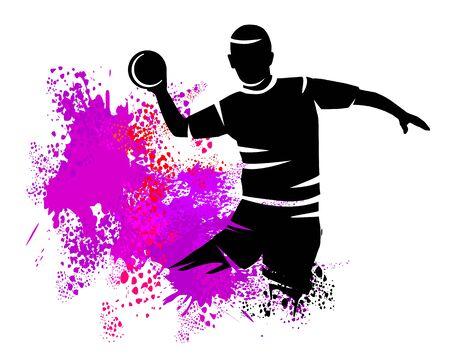 Handball sport vector illustration