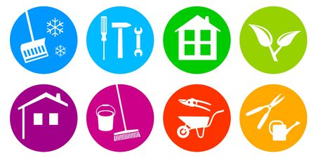 Home and garden service vector illustration