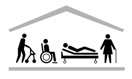Health care vector pictogram Illustration
