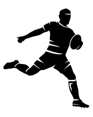 Rugby sport vector silhouette Vettoriali