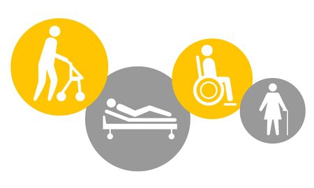 Healt and nursing home vector illustration Illustration