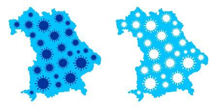 Corona Virus graphic in vector quality