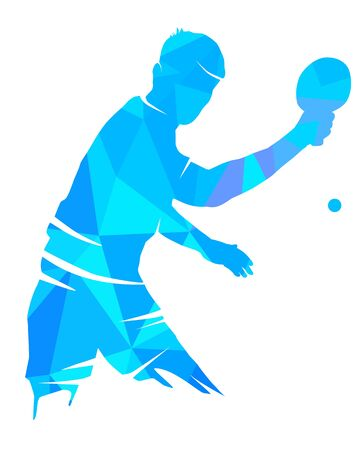 Table tennis graphic in vector quality