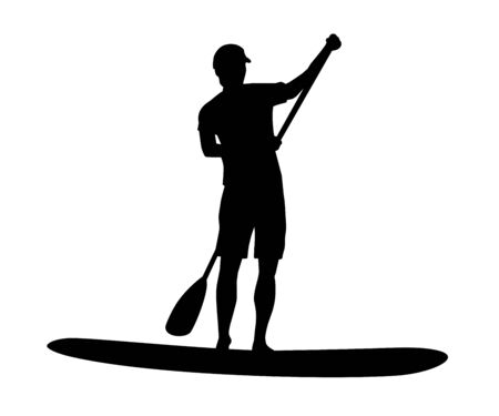 Stand up paddling graphic in vector quality