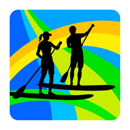Stand up paddling graphic in vector quality 向量圖像