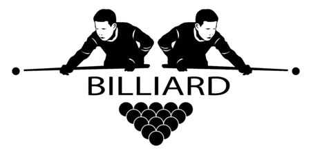 Billiard sport graphic in vector quality